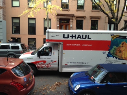 Plenty of quality time spent in the Uhaul this month...on our new street!